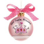 "2.75"" Our Little Princess Christmas Ornament"