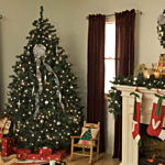 6.5 ft Christmas Tree Noble Prelit Clear Light