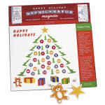 Advent Tree Magnets - 65pc - 16.5""