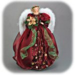 "24.5"" Burgundy Angel Figurine"
