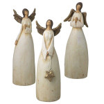 "Terracotta Angel Figurines - 8.25"" - set of 3"