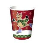 Antlers On Ice Party Cups - Set of 8
