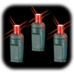 Red LED Battery Operated Lights - string of 20