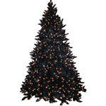 Black Christmas Tree 7.5' Shimmering  Full, PreLit