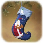 "18"" Santa w/ French Horn Stocking"