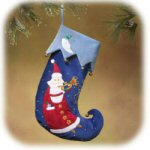 "18"" Santa with Trumpet Stocking"