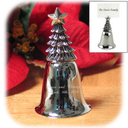 "3.75"" Holiday Tree Bell Place Card Holder"
