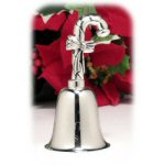 "4"" Personalized Silver Candy Cane Bell"