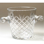 "7.5"" Crystal Medallion Ice Bucket"