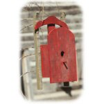 "7.5"" Christmas Sled Red Birdhouse"