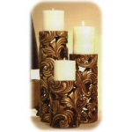"6"" French Decor Pillar Candleholder Small"