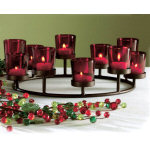 Circular Red Votive Holder