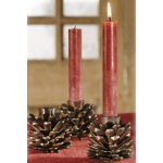 "2.75"" Metal Pinecone Candle Holder"