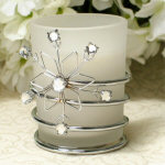 "3"" Wire Snowflake Votive Holder"