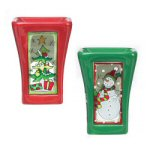 Snowman & Tree Christmas Tart Burners - set of 2