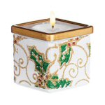 "2.5"" Holly & Berries Votive Holder"