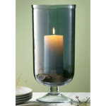 "14.5"" Luster Footed Glass Hurricane"
