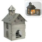 "9"" Steeple House Tealight Candle Holder"