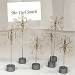 "5.25"" Snowflake Place Card Holders - Set of 12"