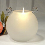 Small Frosted White Votive Candle Holder