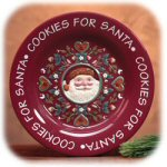 "10.5"" Winter At Home Cookies For Santa Plate"
