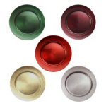 "12.75"" Holiday Charger Plates - Set of 4"