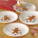 "Gingerbread Appetizer Plates 6"" - set of 4"