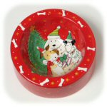 Holiday Ceramic Dog Bowl
