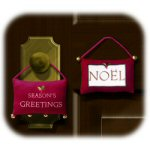 Wool Door Knob Hanger With Bells - Set of 2