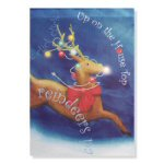 "40"" Impressions Up On The House Top Reindeer Flag"