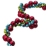 Twisted Multicolor Garland - 9'
