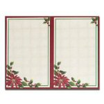 Poinsettia Border 2-up Invitations with Envelopes