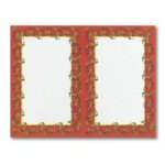 Holly Frame 2-up Invitations - Set of 16