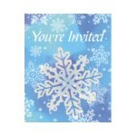 Glitter Snowflake Invitations - Package of 8