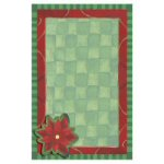 Contemporary Poinsettia Invitation - pkg. of 10