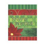 Contemporary Poinsettia Invitations - Pkg. of 8