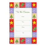 Holiday Border Fill in Blank Invitations-10 Ct