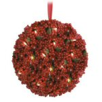 "18"" Red Berry Kissing Ball"