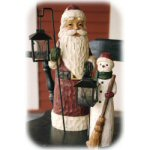 "18.75"" Santa Claus Outdoor Statuary With Lantern"