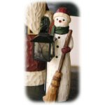 "12.25"" Snowman Outdoor Statuary With Lantern"