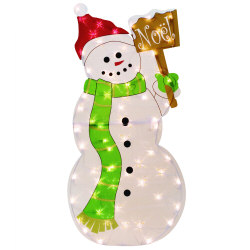 Lighted snowman lawn decoration 36 for 36 countdown to christmas snowman yard decoration