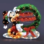 Lighted Mickey Mouse Christmas Display - 30""