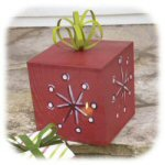"14.25"" Metal Red Christmas Present Luminary"
