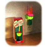 6 red green bubble night light