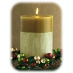 6x4 in. Calista Olive Scented Pillar Candle