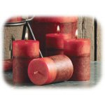 "3"" Scented Garnet Votive Candles- Set of 4"
