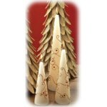 "8"" Sculpted & Painted Ivory Cone Candle - Set of 2"