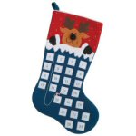 "27"" Reindeer Countdown to Xmas Advent Stocking"