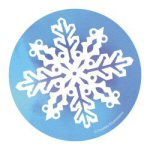 Glitter Snowflake Cork Back Coasters - Set of 4