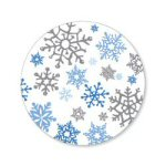 Snowflakes Mat Coasters - Pkg of 6
